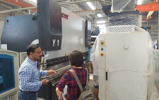 Indian customers come to our factory to buy CNC Press Brake