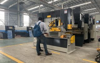 Indian customer inspection Hydraulic Iron worker(visia)